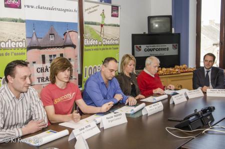 Conférence de presse pour l'ekiden